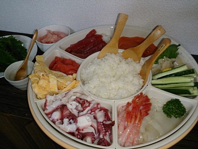 英会話スクールで手巻き寿司